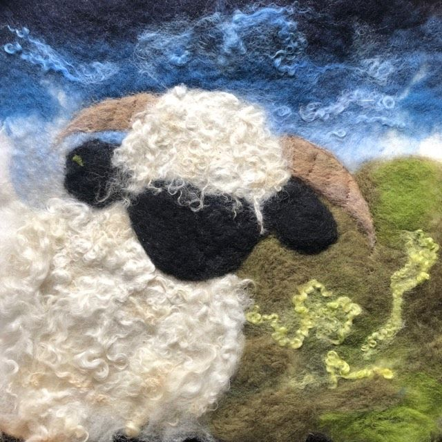 Wet felted blacknose valais
