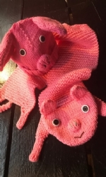 Pig Hat & Scarf set