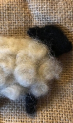 Felted Sheep Brooch