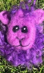Purple Sheep Brooch