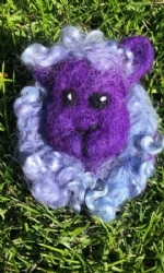 Lilac Sheep Brooch