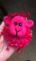 Pink Sheep Brooch